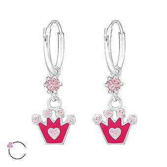 Couronne - 925 Sterling d'argent Hoops - W32895X
