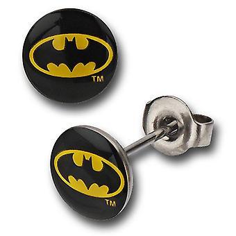 Batman símbolo 316L aço cirúrgico Stud brincos