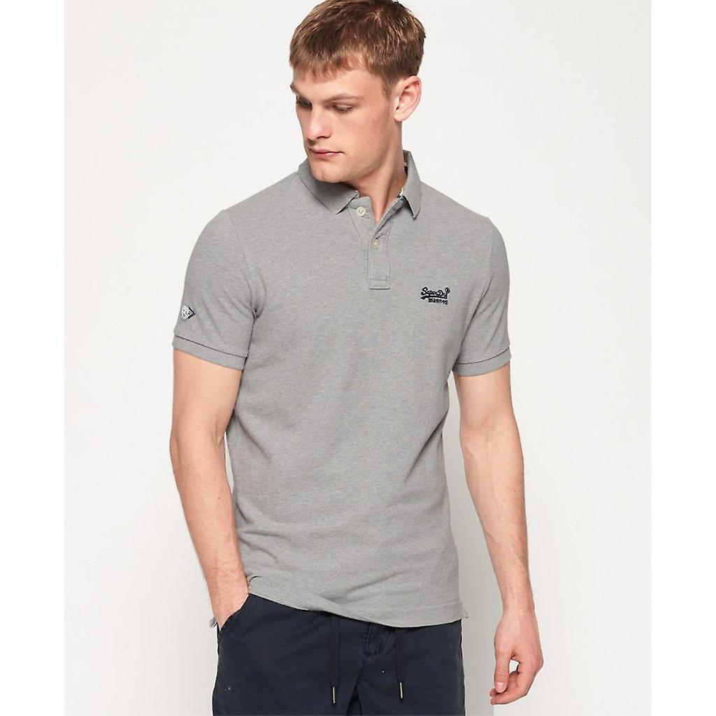Superdry Classic Pique Polo - Grey Marl