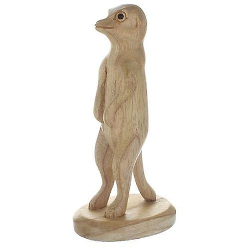 Meerkat Wood Standing 15cm