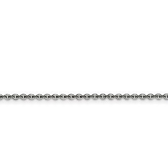 Stainless Steel Polished Fancy Lobster Closure 2.3mm Cable Chain Necklace - Length: 16 to 24