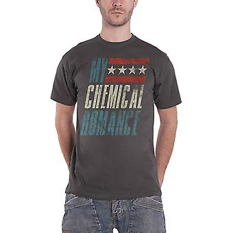 My Chemical Romance T Shirt Raceway Band Logo new Official Mens Charcoal Grey