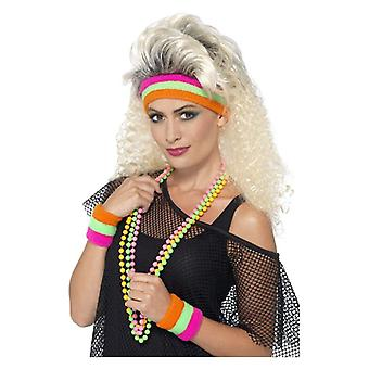 1980s hovedbøjle og armbånd Fancy kjole tilbehør