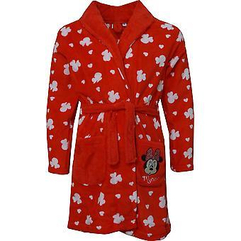 Mädchen HS2098 Disney Minnie Mouse Koralle Fleece Dressing Kleid