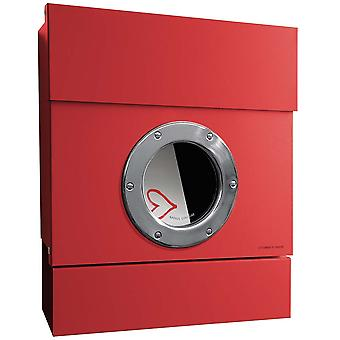 RADIUS 2 incl. newspaper role Letterman red letterbox 505r