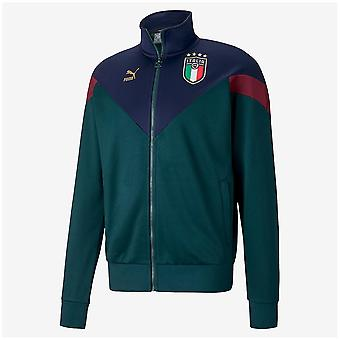 2019-2020 Italy Puma Iconic MCS Track Jacket (Pine)