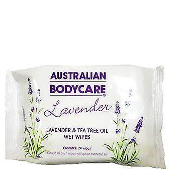 Australian Bodycare Lavender Wipes Face & Body Cleanser With Tea Tree Oil 24pk