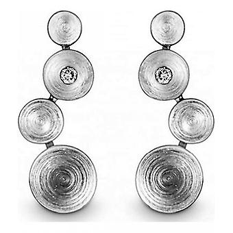 Quinn - Silver stud earrings with diamonds 0.03 ct - 0368969
