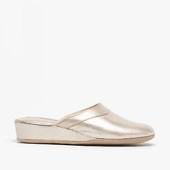 Chaleur Florence Ladies Mule Slippers Gold