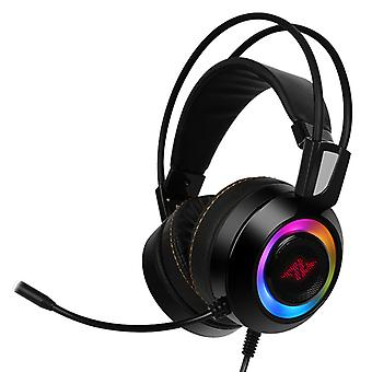 ABKONCORE CH60 valós 7,1 Gaming Headset fekete
