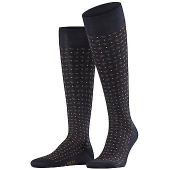 Falke gevoelige Jabot knie hoge sokken-donker Navy/bruin