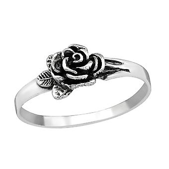 Rose - 925 Sterling Silver Plain Rings - W38955X