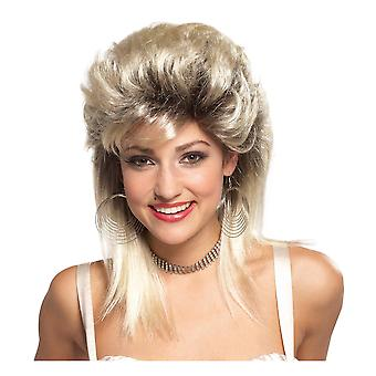 Rocker Groupie 1980s Mullet Disco Blonde Rock n Roll Women Costume Wig