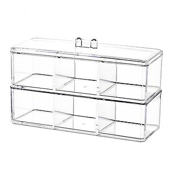 TRIXES Clear Acrylic Desk Cosmetic Makeup Holder Two Tier Organiser