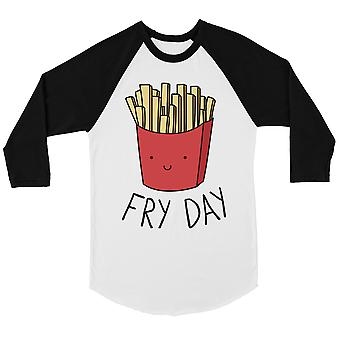 365 Printing Fry Day Mens Baseball Shirt French Fries Graphic Tee Funny Gifts