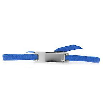 Les vaihdettavissa ranne koru A55646-sileä nauha Plate Strasse Blue Palladium naiset