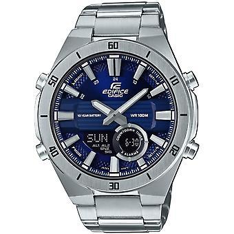 Casio Edifice slanke stijl blauwe wijzerplaat zilver roestvrijstaal Quartz mannen ' s Watch tijdperk-110d-2avef
