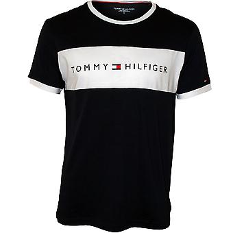 Tommy Hilfiger Logo Block Crew-Neck Cotton T-Shirt, Navy