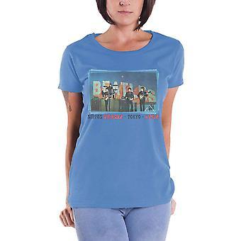 The Beatles T Shirt Nippon Budokan Japan new Official Womens Skinny Fit Blue