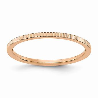 10kr 1.2mm Line Pattern Stackable Band Ring Jewelry Gifts for Women - Ring Size: 4.5 to 10
