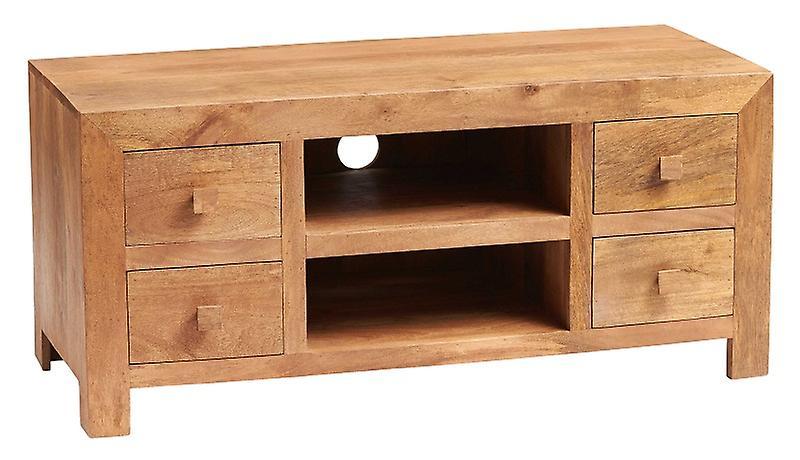 Verty Furniture Phoenix Light Mango Plasma/TV Cabinet Natural Dimen...