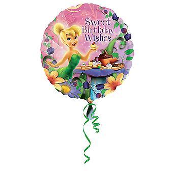 Amscan 18 pouces Disney Tinker Bell joyeux anniversaire circulaire feuille ballon