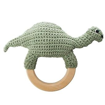 Sebra - baby rattle - dino on ring