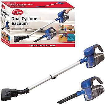Quest Handheld Dual Cyclone Vacuum Cleaner Blue