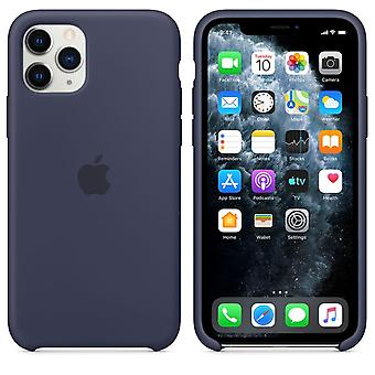 Originele verpakking MWYJ2ZM/A Apple Siliconen Microfiber Cover Case voor iPhone 11 Pro - Midnight Blue