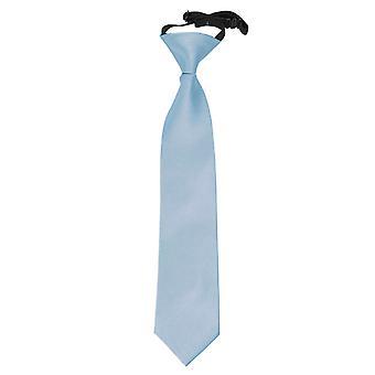 Dusty Blu Pianura Satin elasticizzato Cravatta per Ragazzi