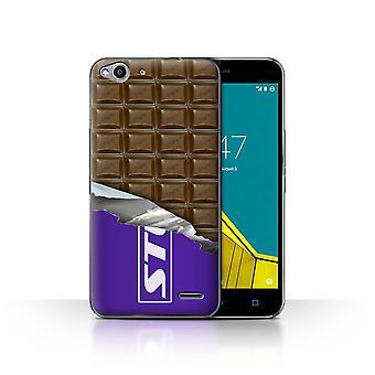 STUFF4 Caso/tampa para Vodafone Smart Ultra 6/embalados blocos/laje/Chocolate