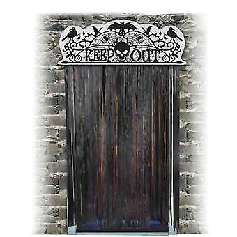 Halloween Door Topper Keep Out