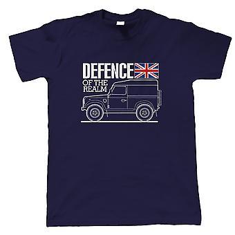 Forsvar af Realm Off Road 4X4 Herre T-shirt, Militær Motoring Gift Ham Far