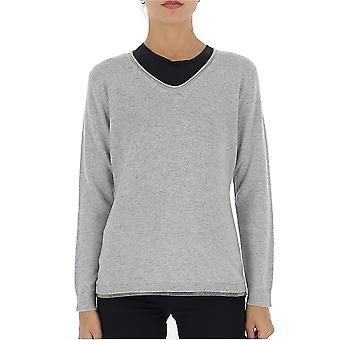 Fabiana Filippi Mad129w620n1288139 Women's Grey Wool Sweater