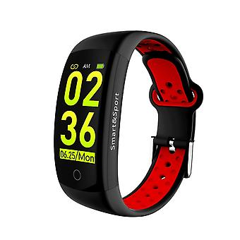 Q6S activity wristband with heart rate monitor-red