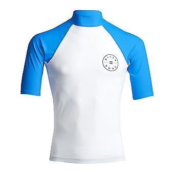 Billabong Rotor Short Sleeve Rash Vest in White