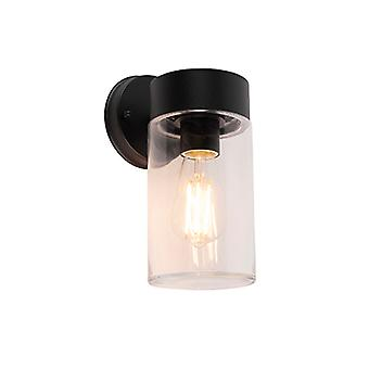 QAZQA Modern wall lamp black 26.8 cm IP44 - Jarra