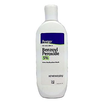 Perrigo benzoyl peroxide acne medication wash 5%, 8 oz