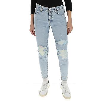 Amiri Y0w01411sdskyindigo Women's Light Blue Cotton Jeans