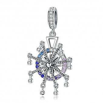 Sterling Silver Pendant Charm Ferris Wheel - 5906