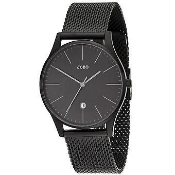Relógio quartzo analógico aço inoxidável data watch JOBO homens