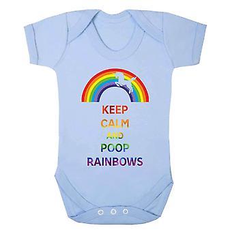 現実のグリッチは落ち着いて、うんち虹は子供の赤ちゃんが成長します