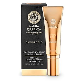 Natura Siberica Gold & Platinium Concentrated Night Cream Youth Injection 30 ml