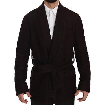 Dolce & Gabbana Bordeaux Robe Coat Mens Wrap  Jacket -- JKT2451568