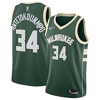 Nike Nba Milwaukee Bucks Giannis Antetokounmpo Swingman Jersey - Icon Edition