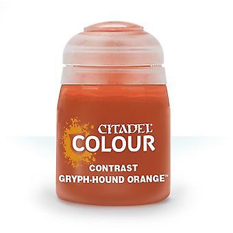 Contrast: Gryph-Hound Orange (18ml) ,Citadel Paint Contrast,Warhammer 40,000