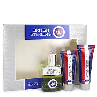 Esterlina presente definido por Dana 2,5 oz Cologne Spray + 2,5 oz corpo lavagem + 2 oz após barba bálsamo