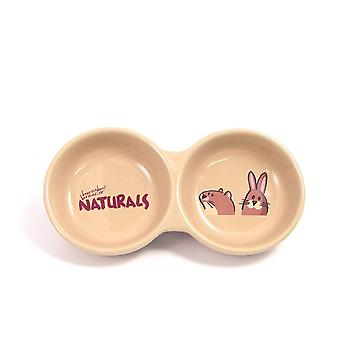 Rosewood Twin Naturals Stoneware Pet Bowl