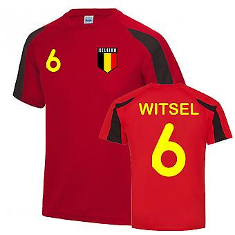 Axel Witsel Belgium Sports Training Jersey (Red-Black)