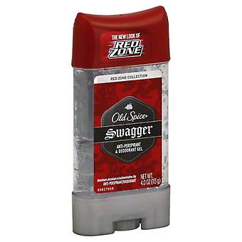 Old spice red zone deodorant clear gel, swagger, 4 oz